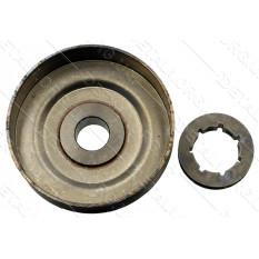 чашка сцепления бензопилы Husqvarna 137/142 + венец 325-7  D14*64*67*16 аналог  5300481-32