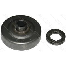 чашка сцепления бензопилы Partner P350/351+венец 7*325