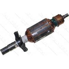якорь фрезер Bosch GKF 600 оригинал 2609120316 ( 163*35 резьба 14мм)
