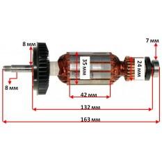 Якорь шлифмашины угловой  Bosch GWS 8-115 Z  1604010633