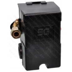 Автоматика компрессора 220В 4 выхода PRO рычаг включения, передний выход под трубку