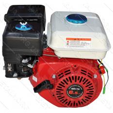 Двигатель бензиновый мотоблока 168F (6,5 HP) вал 6 шлицов d25