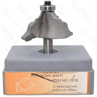 Фреза Globus Item 1018 D49mm L21mm d8mm R18mm