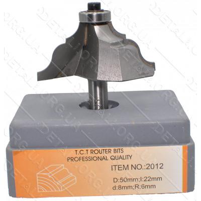 Фреза Globus Item 2012 D50mm L22mm d8mm R6mm