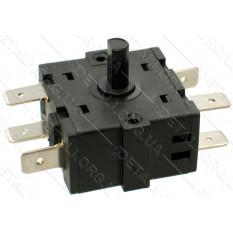Переключатель режимов обогревателя 244-7 16А (6 контактов) - С-10 для масляного обогревателя