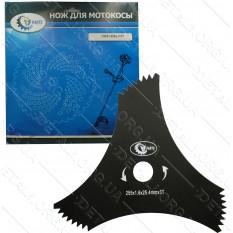 Нож - диск для мотокосы 3-х лучевой 3T крыло d25,4*255*1,6
