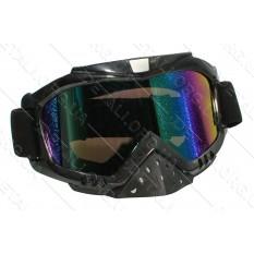 Очки кроссовые KML (mod:WL-EC008/ черные/ стекло хамелеон)