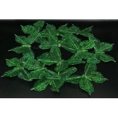 Бабочки зеленые прозрачные для декора 12 штук.