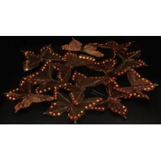 Бабочки коричневые прозрачные для декора 12 штук.