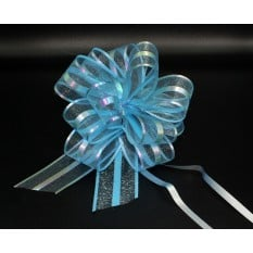 Бант для упаковки подарков голубой