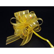 Бант для упаковки подарков желтый