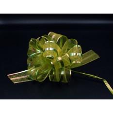 Бант для упаковки подарков зеленый