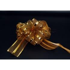 Бант для упаковки подарков золотой
