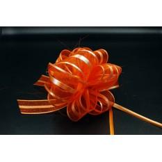 Бант для упаковки подарков оранжевый