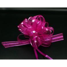 Бант для упаковки подарков розовый