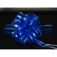 Бант для упаковки подарков синий