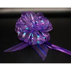 Бант для упаковки подарков фиолетовый
