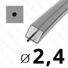 Леска косильная для триммера d 2,4мм квадрат с сердечником 1 м (на метраж) арт. les485