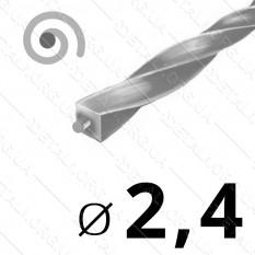 Леска косильная для триммера d 2,4мм спираль с сердечником 1 м (на метраж) арт. les488