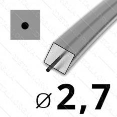 Леска косильная для триммера d 2,7мм квадрат с сердечником 1 м (на метраж) арт. les486