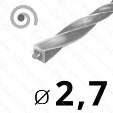 Леска косильная для триммера d 2,7мм спираль с сердечником 1 м (на метраж) арт. les489