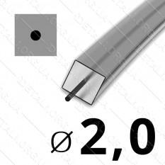Леска косильная для триммера d 2мм квадрат с сердечником 1 м (на метраж) арт. les484