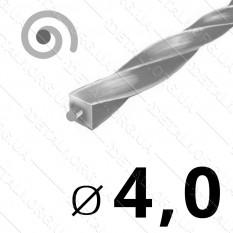 Леска косильная для триммера d 4мм спираль с сердечником 1 м (на метраж) арт. les491