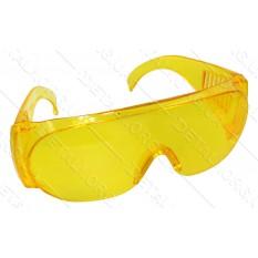Защитные очки для мотокосы оргстекло желтые