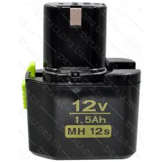 Аккумулятор шуруповерта Hitachi узкий 3 контакта MH12s 12V 1.5Ah