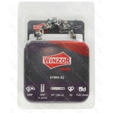 Цепь 52 звена (26 зубов) Winzor HARD Picco суперзуб шаг 3/8 паз 1,3 (блистер)