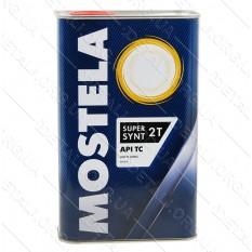 Масло для 2-х тактных двигателей Mostela Super Synt 2T 1л.