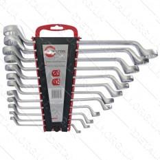 Набор ключей накидных 12 ед., 6-32 мм Cr-V INTERTOOL
