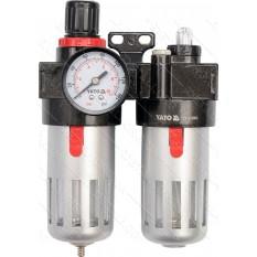Фильтр пневматический двойной YATO с редуктором d 1/4 90см3 25