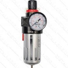 Фильтр пневматический с редуктором и манометром YATO 1/2 maxP 0.93 MPa 25/50