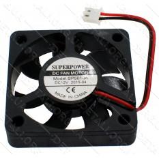 Вентилятор черный (пластик) 12V 50*50мм