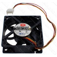 Вентилятор черный (пластик) 12V 60*60мм