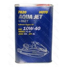 Масло для 4-х тактных двигателей Aqua Jet 4T API SL 10W-40 MANNOL, 1л ж/б