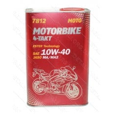 Масло для 4-х тактных двигателей Motorbike 4T API SL 10W-40 MANNOL, 1л ж/б