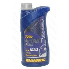 Масло для 4-х тактных двигателей Plus 4T API SL 10W-40 MANNOL, 1л, полусинтетика