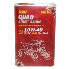 Масло для 4-х тактных двигателей Quad 4T Racing API SL/CF 10W-40 MANNOL 1л ж/б, синтетика