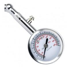 Измеритель давления в шинах стрелочный, металлический корпус, клапан сброса давления