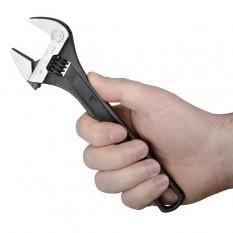 Ключ разводной 200мм, Cr-V, черный, фосфатированный