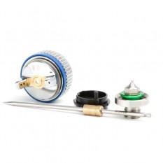 Комплект форсунки 0.8мм для краскопульта HVLP II mini PT-0128 (дюза, воздушная головка, игла)