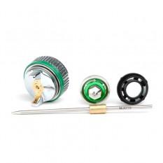 Комплект форсунки 1.0мм для краскопульта HVLP II mini PT-0128 (дюза, воздушная головка, игла)
