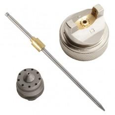 Комплект форсунки 1.3мм для краскопульта HVLP PT-0102 (дюза, воздушная головка, игла)