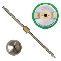 Комплект форсунки 1.3мм для краскопульта LVLP PT-0131,PT-0132,PT-0133,PT-0134,PT-0135,PT-0136 (дюза,