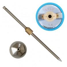 Комплект форсунки 1.4мм для краскопульта LVLP PT-0131,PT-0132,PT-0133,PT-0134,PT-0135,PT-0136 (дюза,