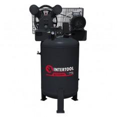 Компрессор 100 л, вертикальный, 3 кВт, 220 В, 10 атм, 500 л/мин, 2 цилиндра