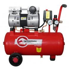 Компрессор 24 л, 0.75 кВт, 220 В, 8 атм, 145 л/мин, малошумный, безмасляный, 2 цилиндра