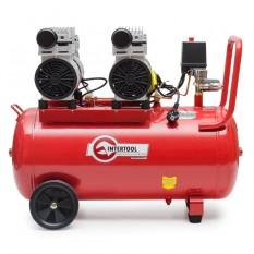 Компрессор 50л, 2х0.75 кВт, 220В, 8атм, 270л/мин, малошумный, безмасляный, 4 цилиндра